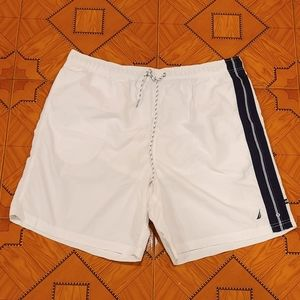 Nautica Mens White Swim Trunks - XXL❗❗❗